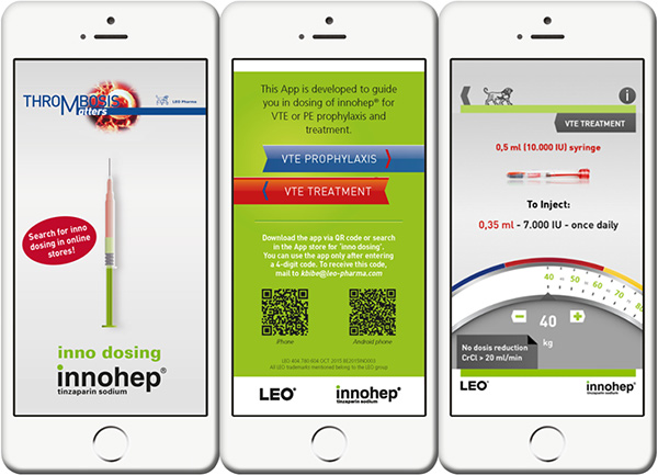 New! the inno dosing app of innohep